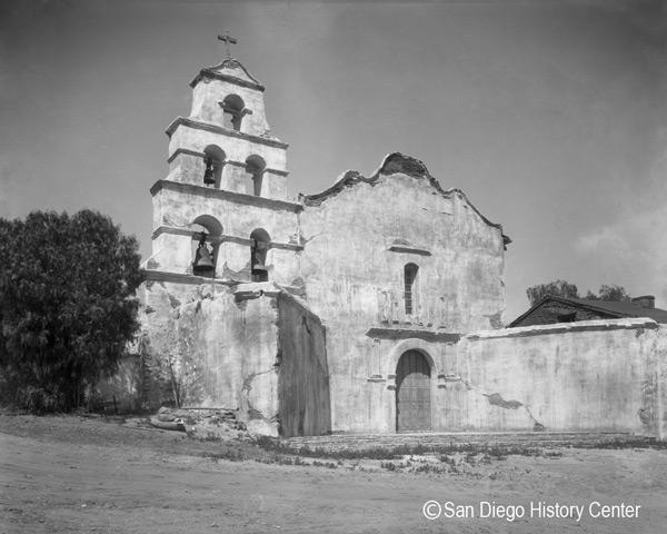 Mission San Diego de Alcala - reconstructed - c. 1931