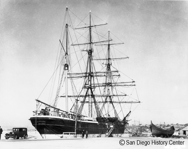 Star of India docked in S.D. Harbor - c. 1930