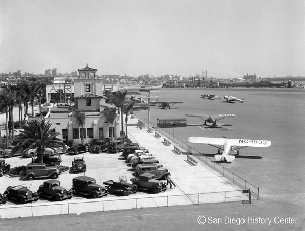 1928 – Lindbergh Field, San Diego's new municipal airport dedicated
